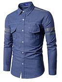 povoljno Muške košulje-Majica Muškarci - Aktivan Osnovni Dnevno Vikend Jednobojni