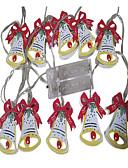 olcso Női pulóverek-1,5 m Fényfüzérek 10 LED DIP Led Meleg fehér Dekoratív AA akkumulátorok tápláltak 1db
