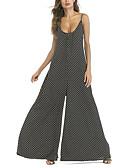 זול שמלות מודפסות-כתפיה מנוקד - סרבלים חגים / ליציאה בגדי ריקוד נשים / סקסית