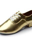 tanie Egzotyczna bielizna męska-Męskie Buty do latino PU Adidasy Płaski obcas Personlaizowane Buty do tańca Złoty / Domowy
