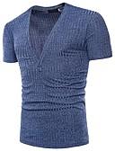 baratos Camisas Masculinas-Homens Camiseta Básico Moda de Rua Jacquard, Sólido