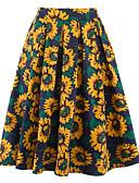 cheap Women's Skirts-Women's Street chic A Line Skirts - Floral