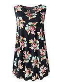 billige Topper til damer-T-skjorte Dame - Blomstret, Trykt mønster Grunnleggende