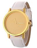 זול שעונים אופנתיים-בגדי ריקוד נשים שעוני אופנה Chinese שעונים יום יומיים PU להקה אופנתי / מינימליסטי שחור / לבן / כחול