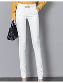 cheap Women's Skirts-Women's Cotton Slim Suits Pants - Solid Colored White / Work