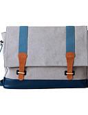 cheap Steel Band Watches-Men's Bags Oxford Cloth Shoulder Bag Buttons / Zipper Gray