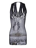 cheap Women's Nightwear-Women's Babydoll & Slips Nightwear - Mesh, Solid Colored