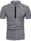 tanie Męskie koszulki polo-Polo Męskie Podstawowy Prążki