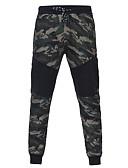 ieftine Pantaloni Bărbați si Pantaloni Scurți-Bărbați De Bază Mărime Plus Size Bumbac Zvelt Pantaloni Sport Pantaloni - camuflaj Imprimeu Trifoi / Toamnă