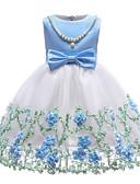 Недорогие Платья-Дети (1-4 лет) Девочки Классический Однотонный Без рукавов Платье Синий