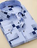 ieftine Tricou Bărbați-Bărbați Cămașă De Bază - Dungi / Geometric / Manșon scurt / Manșon Lung