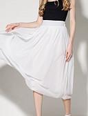 tanie Damska spódnica-Damskie Moda miejska Swing Spódnice - Wyjściowe Solidne kolory Wysoka talia