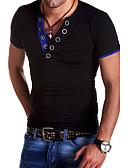 abordables Camisetas y Tops de Hombre-Hombre Básico Camiseta Un Color / Bloques