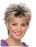 halpa T-paita-Ombre Suora Tyyli Pixie-leikkaus Suojuksettomat Peruukki Kulta Vaaleahiuksisuus Punainen Medium Auburn Synteettiset hiukset Naisten Luonnollinen hiusviiva Kulta / Burgundi Peruukki Lyhyt StrongBeauty