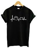 abordables Camisetas para Mujer-Mujer Activo / Básico Camiseta Geométrico