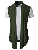 cheap Men's Sweaters & Cardigans-Men's Daily Basic Solid Colored Long Sleeve Regular Cardigan, V Neck Summer Dark Gray / Army Green / Light gray L / XL / XXL