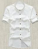 olcso Férfi pólók-Kínai Férfi Ing - Egyszínű / Állógallér