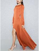 tanie Sukienki-Damskie Impreza / Praca Moda miejska / Wyrafinowany styl Szczupła Bodycon / Pochwa / Swing Sukienka - Solidne kolory Wysoka talia Maxi / Lato