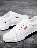 זול כובעים אופנתיים-בגדי ריקוד גברים PU קיץ נוחות נעלי ספורט לבן / שחור