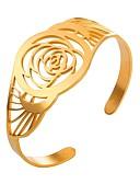 رخيصةأون ليغينجز للنساء-أساور أساور اصفاد - وردة سيدات, موضة سوار ذهبي / فضي من أجل مناسب للبس اليومي
