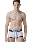 abordables Ropa interior para hombre exótica-Hombre Boxer Un Color / Letra Tiro Bajo