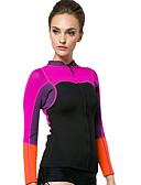 baratos Roupas de Mergulho & Camisas de Proteção-SBART Mulheres Jaqueta de Mergulho 2mm Neoprene Blusas Térmico / Quente Manga Longa Mergulho / Surfe / Snorkeling Retalhos