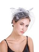cheap Women's Headpieces-Women's Vintage / Elegant Fascinator - Solid Colored Flower / Mesh / Wedding / All Seasons