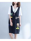 povoljno Ženske haljine-Žene Osnovni Veći konfekcijski brojevi Pamuk Hlače - Jednobojni Crno-crvena, Drapirano Crn / Puff rukav