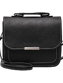 cheap Women's Blouses-Women's Bags PU(Polyurethane) Shoulder Bag Buttons Black / Red / Gray
