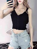 ieftine Bluze & Camisole Femei-Pentru femei În V / Cu Bretele Tank Tops Mată