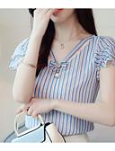 cheap Women's Sweaters-Women's Blouse - Striped V Neck