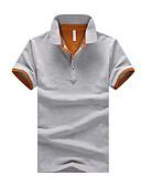 זול טישרטים לגופיות לגברים-אחיד צווארון חולצה טישרט - בגדי ריקוד גברים / שרוולים קצרים