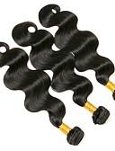 olcso Ruhák-3 csomag Brazil haj Hullámos 8A Emberi haj Emberi haj tincsek 8-28 hüvelyk Természetes szín Emberi haj sző Legjobb minőség Hot eladó Human Hair Extensions Női