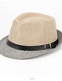 abordables Sombreros de mujer-Hombre Borla, Poliéster Boina Francesa Sombrero Playero - Vintage Vacaciones Bloques
