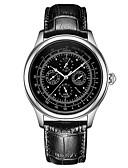 ieftine Maieu & Tricouri Bărbați-Bărbați ceas mecanic Mecanism automat 30 m Calendar faza Lunii Oțel inoxidabil Piele Bandă Analog Lux Vintage Negru / Maro - Negru Aur / argint / alb Aur / argint / negru