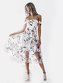 cheap Women's Dresses-Women's Street chic Sheath Dress - Floral