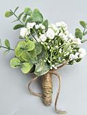hesapli Nedime Elbiseleri-Düğün Çiçekleri Boutonnieres / Bilek Çiçekleri Düğün / Parti / Gece Polyester 3.94 inç