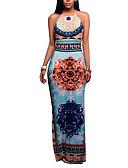 זול שמלות נשים-מקסי אחיד - שמלה צינור וינטאג' בגדי ריקוד נשים