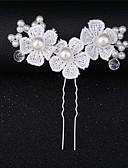 preiswerte Parykopfbedeckungen-Künstliche Perle / Spitze Haarklammer / Haar-Stock mit Spitze / Blume / Kristalle / Strass 1 Stück Hochzeit / Besondere Anlässe Kopfschmuck