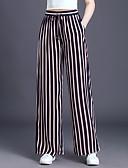 ieftine Pantaloni de Damă-Pentru femei De Bază Mărime Plus Size Larg Picior Larg Pantaloni - Bloc Culoare Alb negru Negru