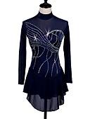 Χαμηλού Κόστους Φόρεμα για παγοδρομία-Φόρεμα για φιγούρες πατινάζ Γυναικεία Patinaj Φορέματα Σκούρο Μπλε Μαρέν Ανταγωνισμός Ενδυμασία πατινάζ Γρήγορο Στέγνωμα Ανατομικός Σχεδιασμός Κλασσικά Μακρυμάνικο Πατινάζ Πάγου Πατινάζ για φιγούρες
