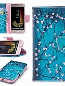 halpa Puhelimen kuoret-Etui Käyttötarkoitus Samsung Galaxy J7 (2017) / J7 (2016) / J7 Lomapkko / Korttikotelo / Tuella Suojakuori Kukka Kova PU-nahka