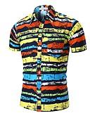 tanie Męskie koszulki polo-Koszula Męskie Aktywny / Podstawowy Bawełna Plaża Kolorowy blok / Kamuflaż / Krótki rękaw
