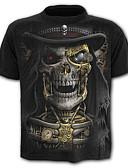 ieftine Maieu & Tricouri Bărbați-Bărbați Mărime Plus Size Tricou Bumbac Schelet / Exagerat - Grafic Imprimeu / Manșon scurt