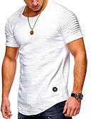 abordables Camisetas y Tops de Hombre-Hombre Básico / Chic de Calle Deportes Estampado - Algodón Camiseta, Escote Redondo Un Color / A Rayas Negro XL / Manga Larga / Primavera