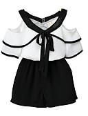 povoljno Kompletići za djevojčice-Dijete koje je tek prohodalo Djevojčice Jednobojni Kratkih rukava Komplet odjeće