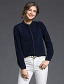 ieftine Bluze Damă-Pentru femei Stand Cămașă Muncă Afacere / De Bază - Mată