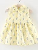 baratos Vestidos para Bebês-bebê Para Meninas Temática Asiática Feriado Floral Estampado Sem Manga Algodão Vestido / Fofo / Bébé