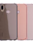 billige Mobilcovers-Etui Til Huawei P20 / P20 lite Stødsikker / Transparent / Gennemsigtig Bagcover Ensfarvet Blødt TPU for Huawei P20 / Huawei P20 lite
