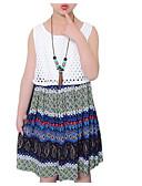 ieftine Seturi Îmbrăcăminte Fete-Copii Fete Activ Dungi Fără manșon Rochie Curcubeu 110